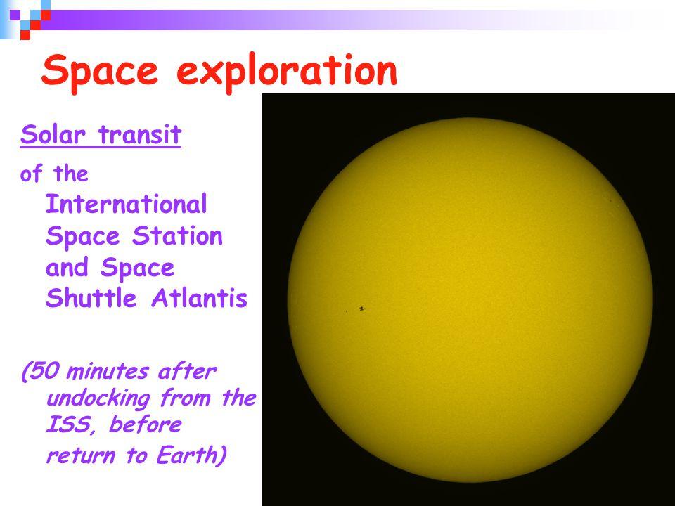 Space exploration Solar transit