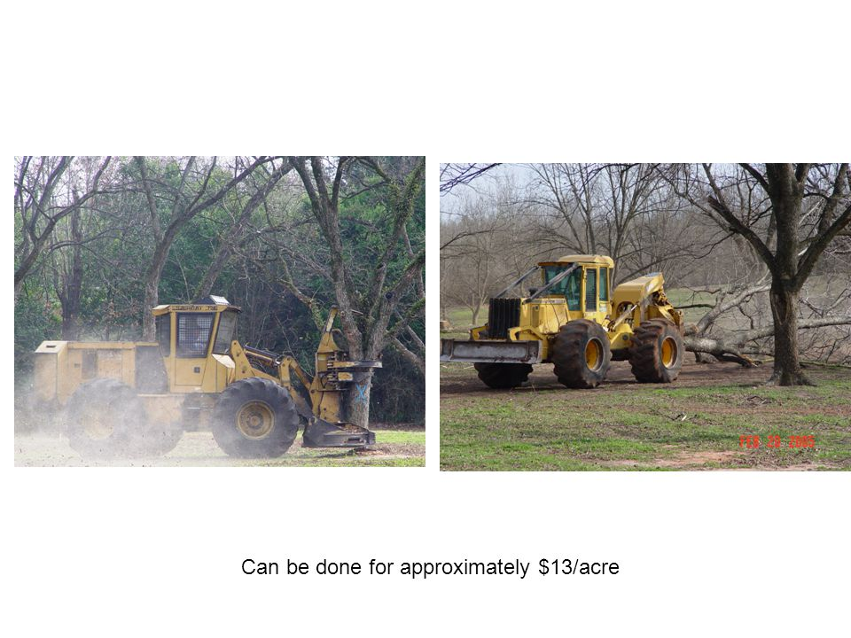 Can be done for approximately $13/acre