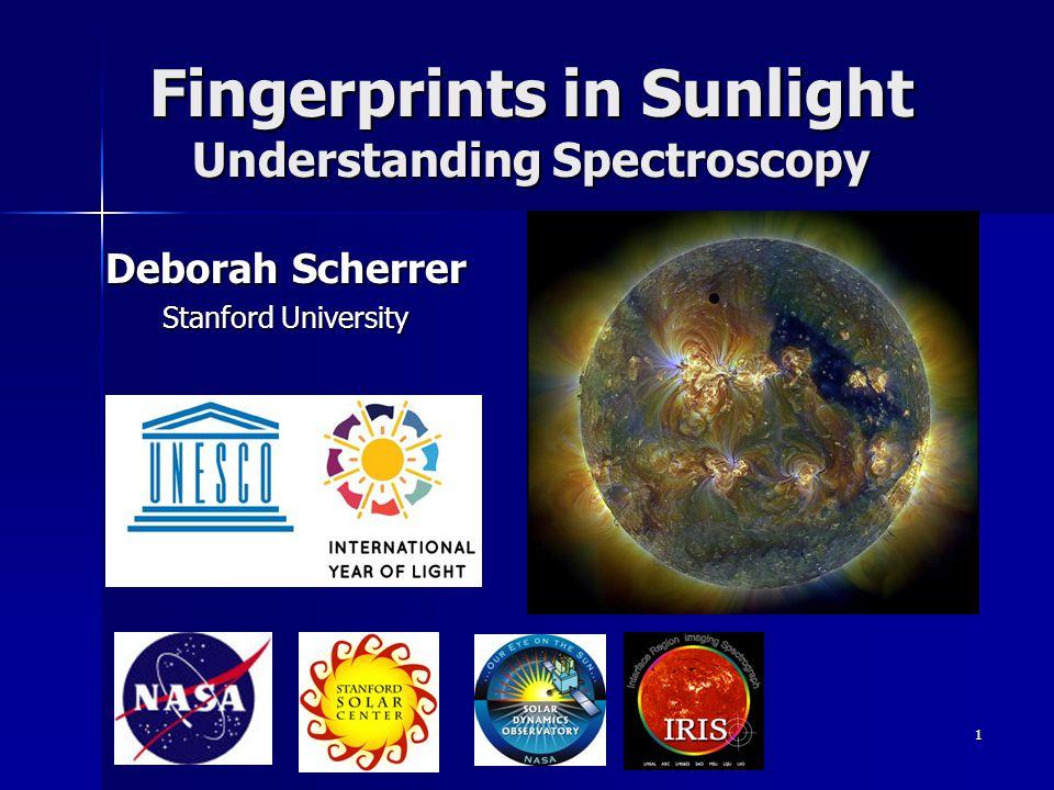 Fingerprints in Sunlight Understanding Spectroscopy