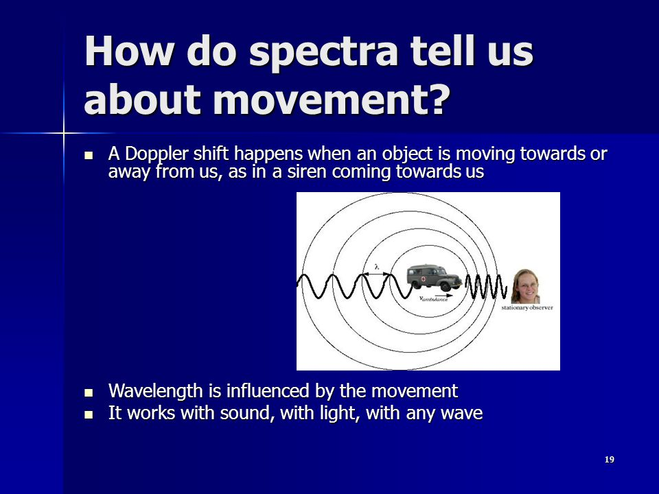 How do spectra tell us about movement