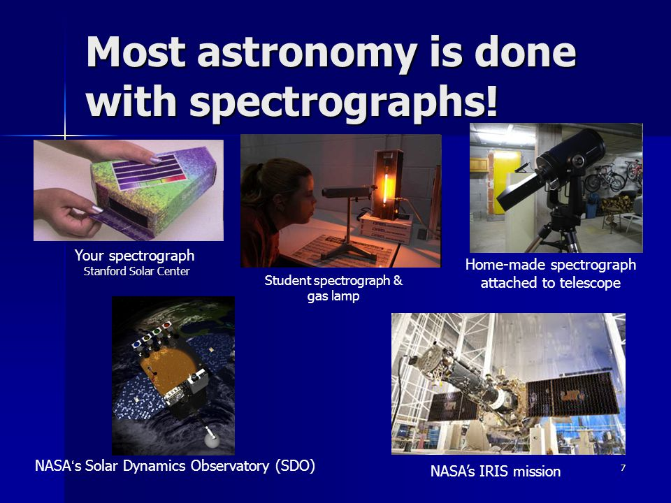 Most astronomy is done with spectrographs!