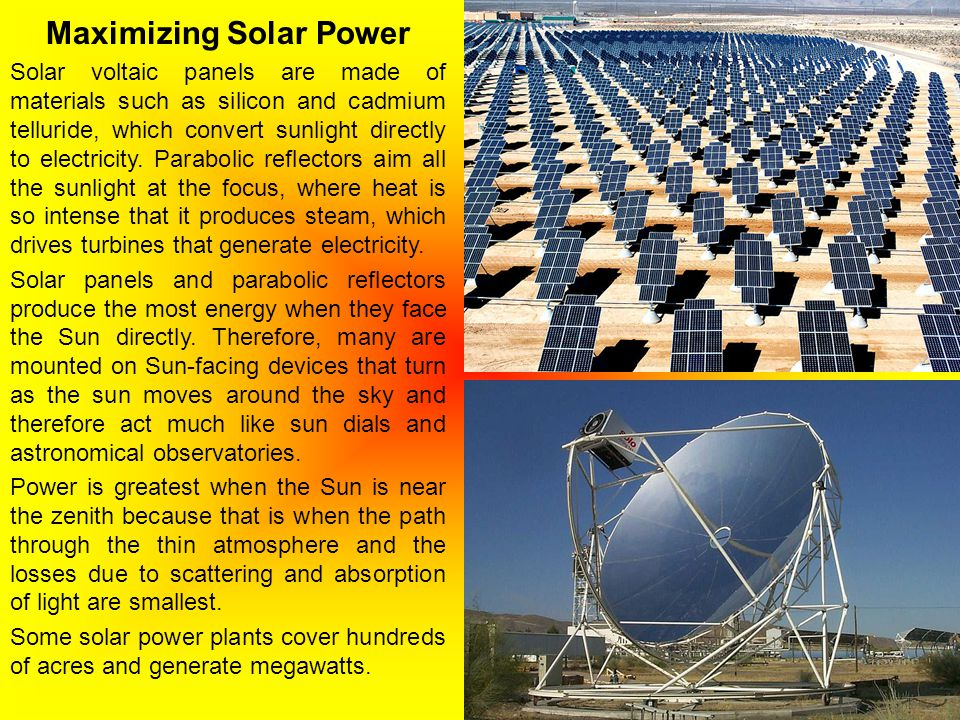Maximizing Solar Power