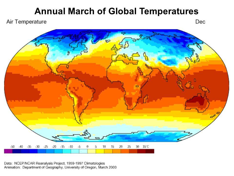 Annual March of Global Temperatures