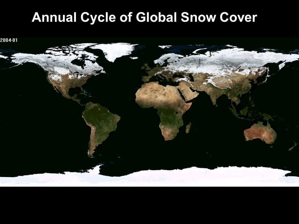 Annual Cycle of Global Snow Cover