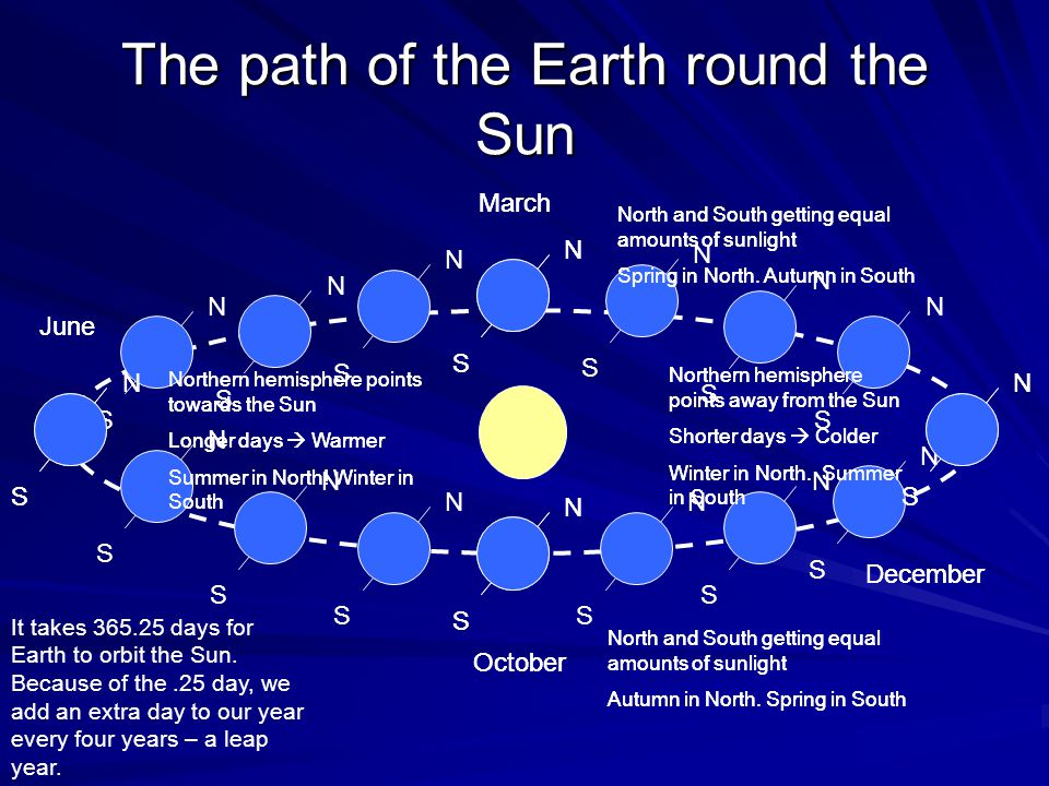The path of the Earth round the Sun