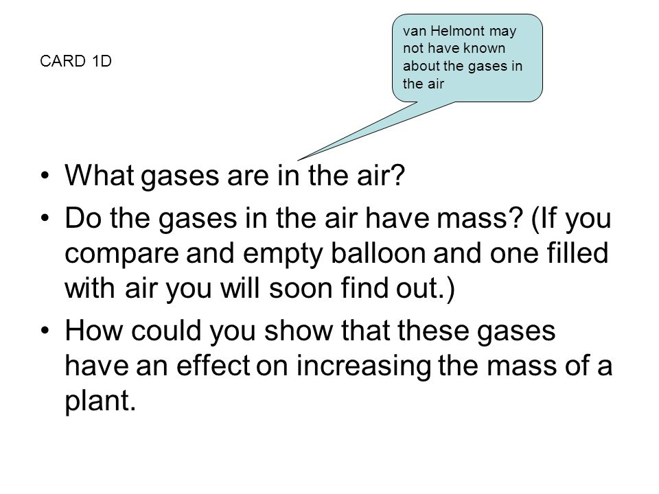 What gases are in the air