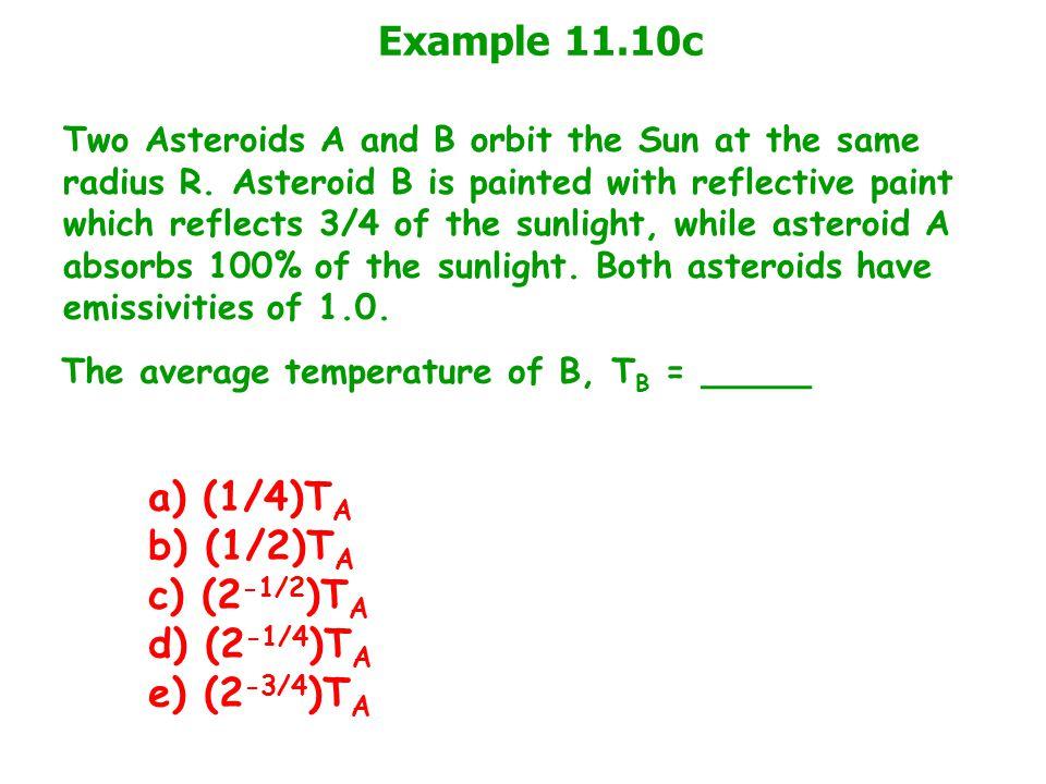 Example 11.10c a) (1/4)TA b) (1/2)TA c) (2-1/2)TA d) (2-1/4)TA