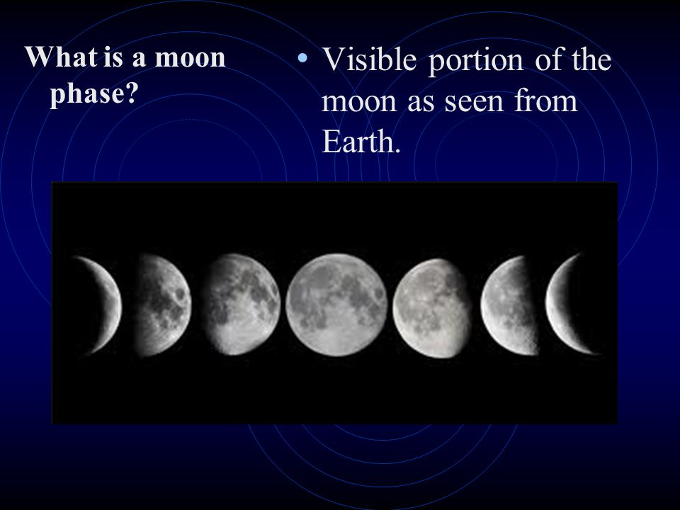 Visible portion of the moon as seen from Earth.
