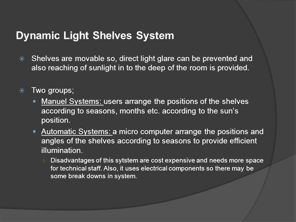Dynamic Light Shelves System