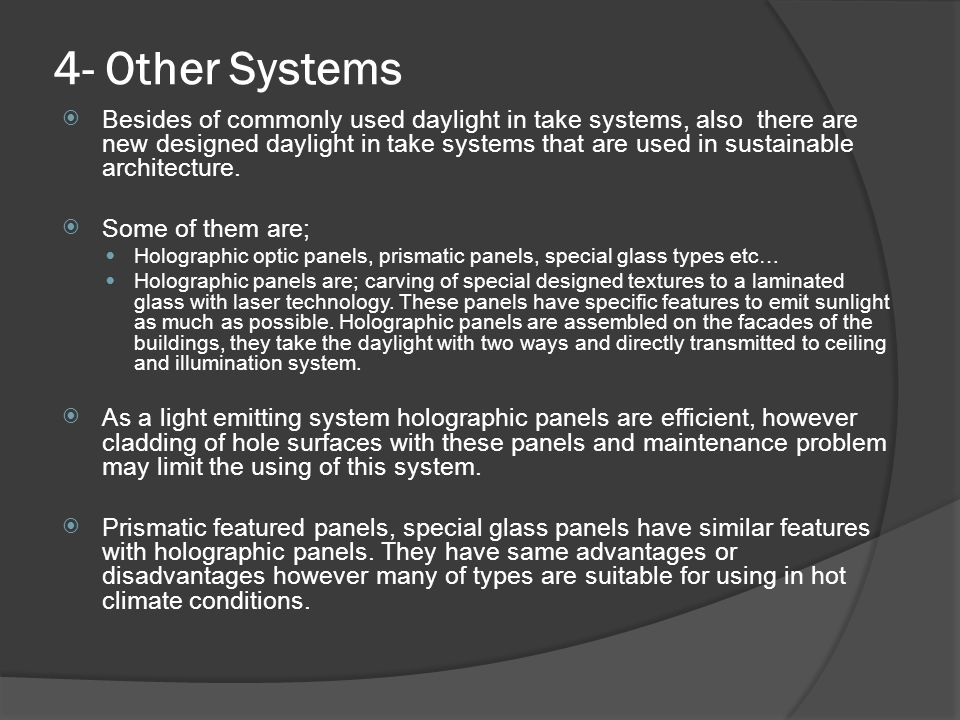 4- Other Systems
