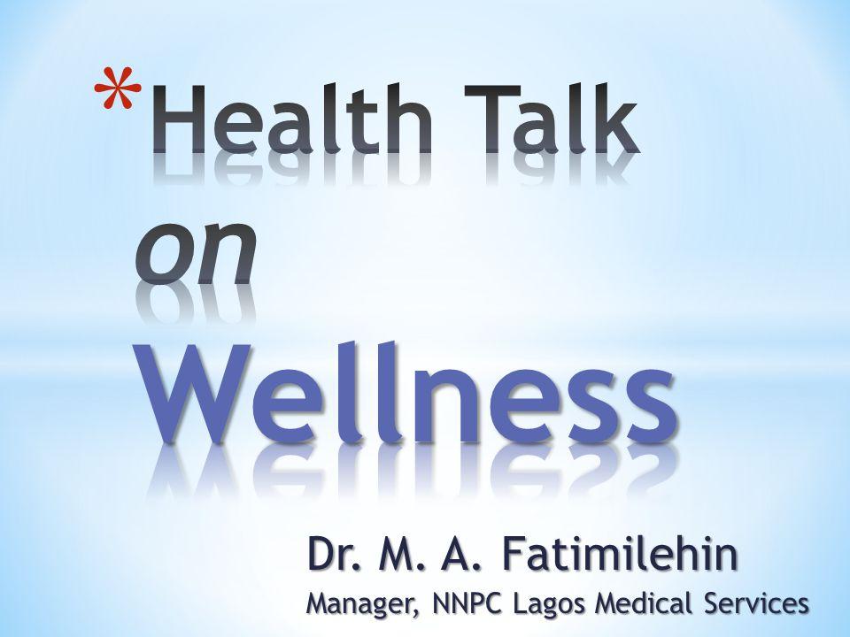 Health Talk on Wellness