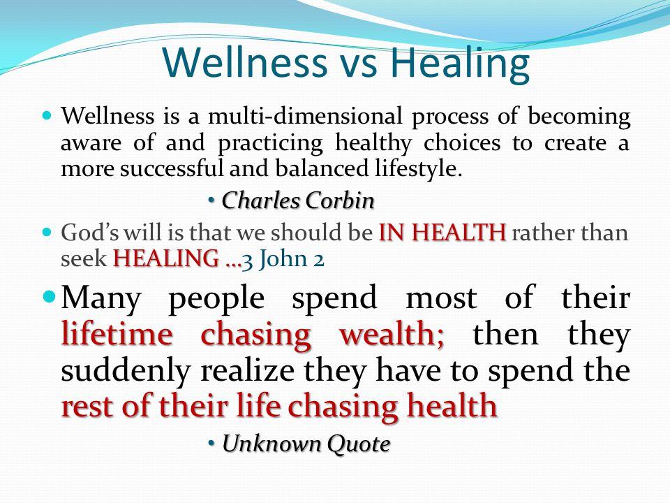 Wellness vs Healing