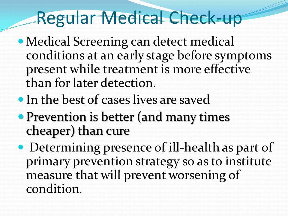 Regular Medical Check-up