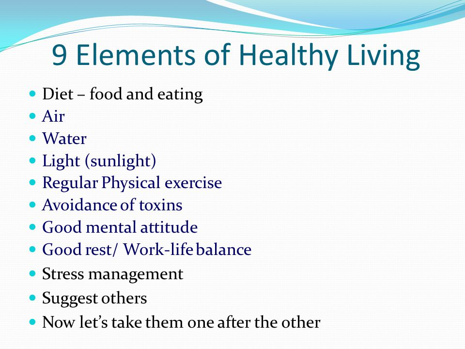 9 Elements of Healthy Living
