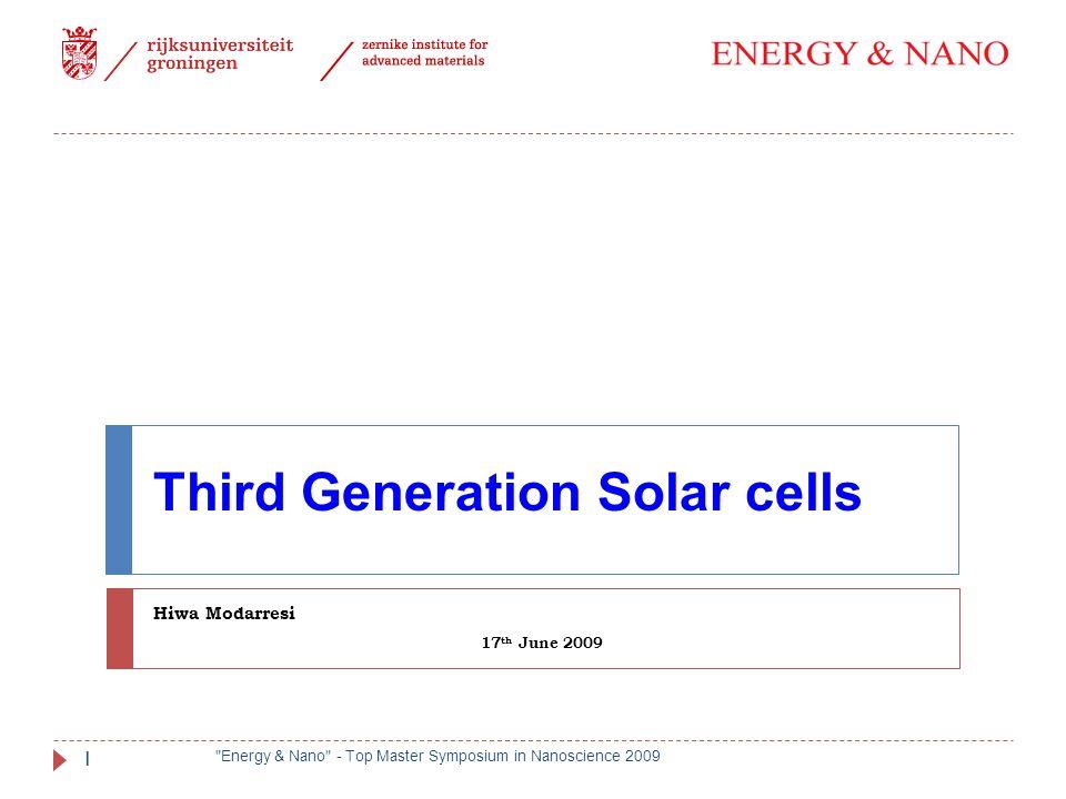 Third Generation Solar cells