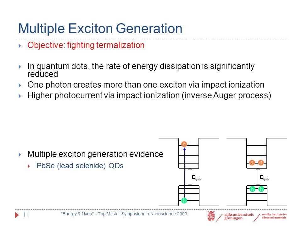 Multiple Exciton Generation