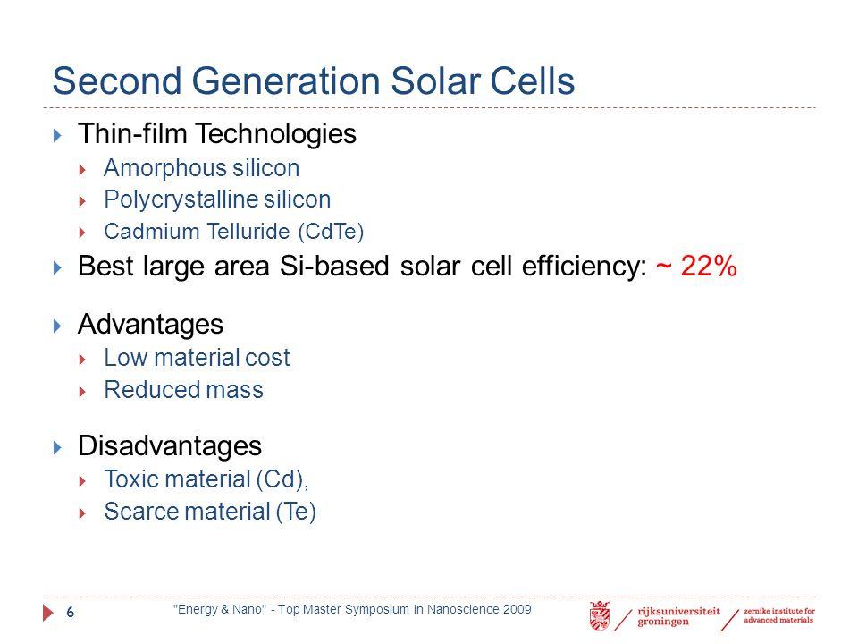 Second Generation Solar Cells