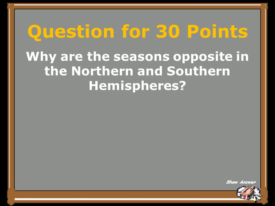 Why are the seasons opposite in the Northern and Southern Hemispheres
