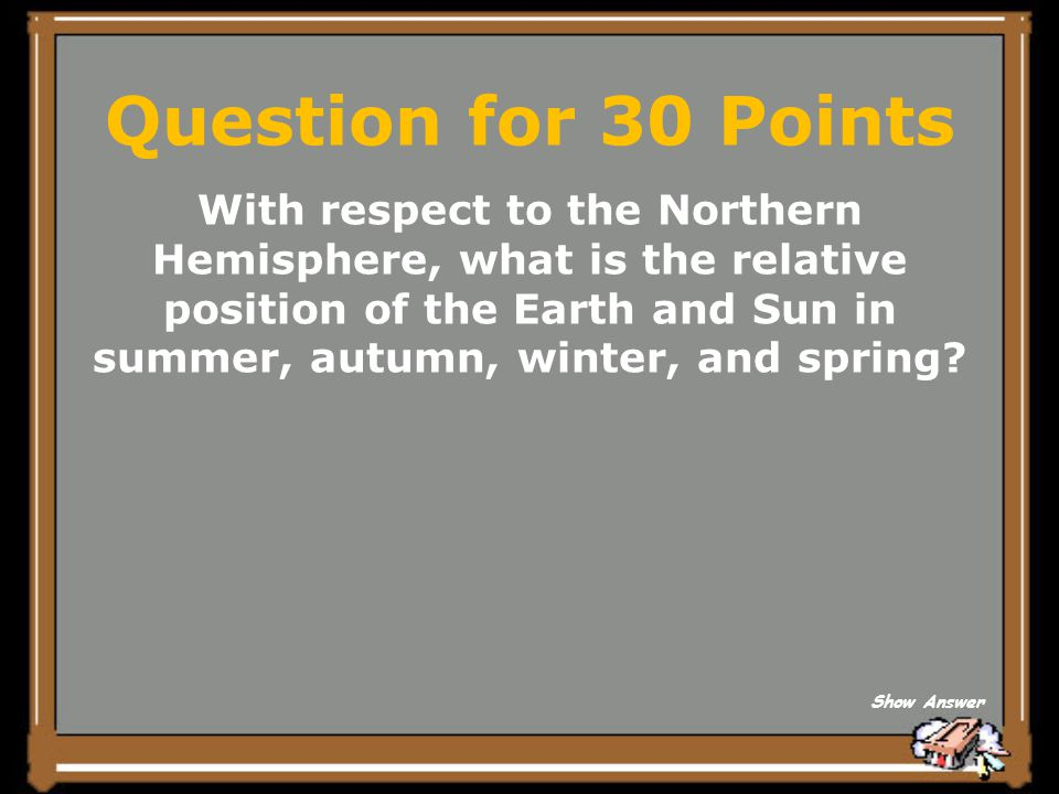 Question for 30 Points