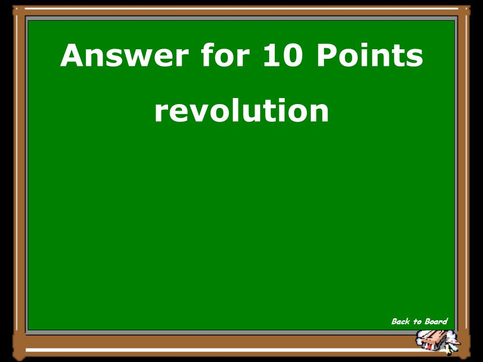 Answer for 10 Points revolution