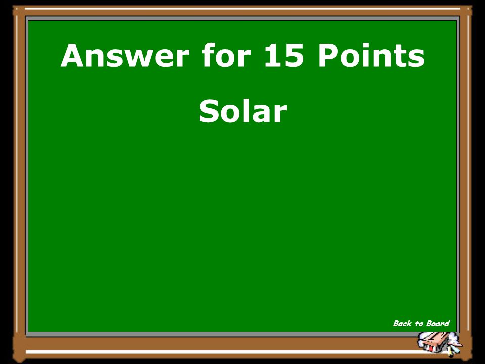 Answer for 15 Points Solar