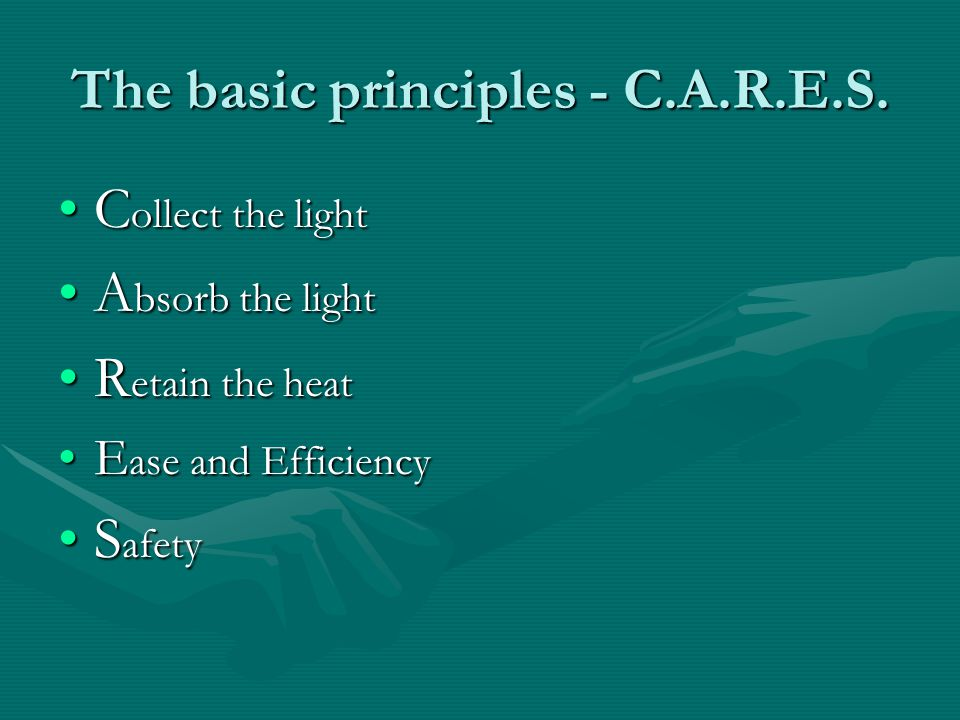 The basic principles - C.A.R.E.S.