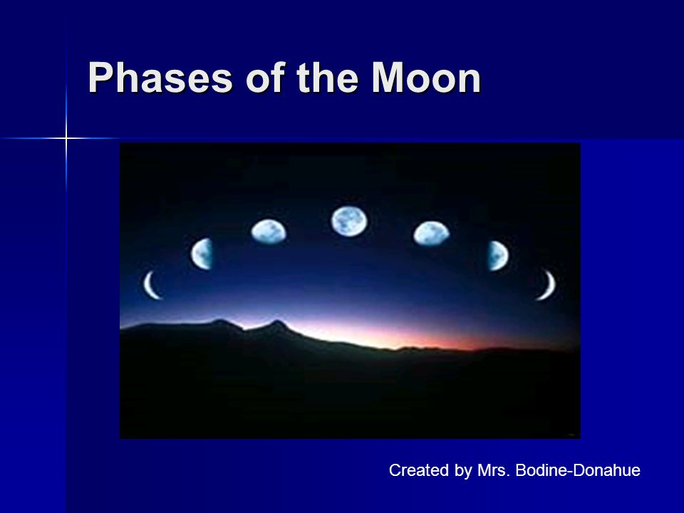 Phases of the Moon Created by Mrs. Bodine-Donahue