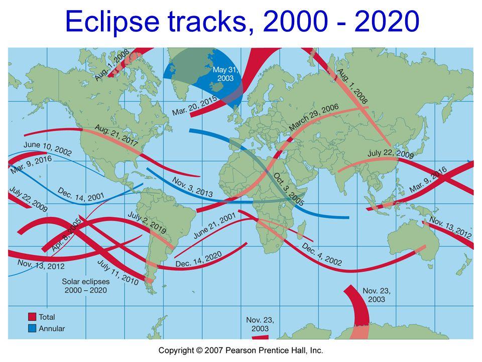 Eclipse tracks, 2000 - 2020