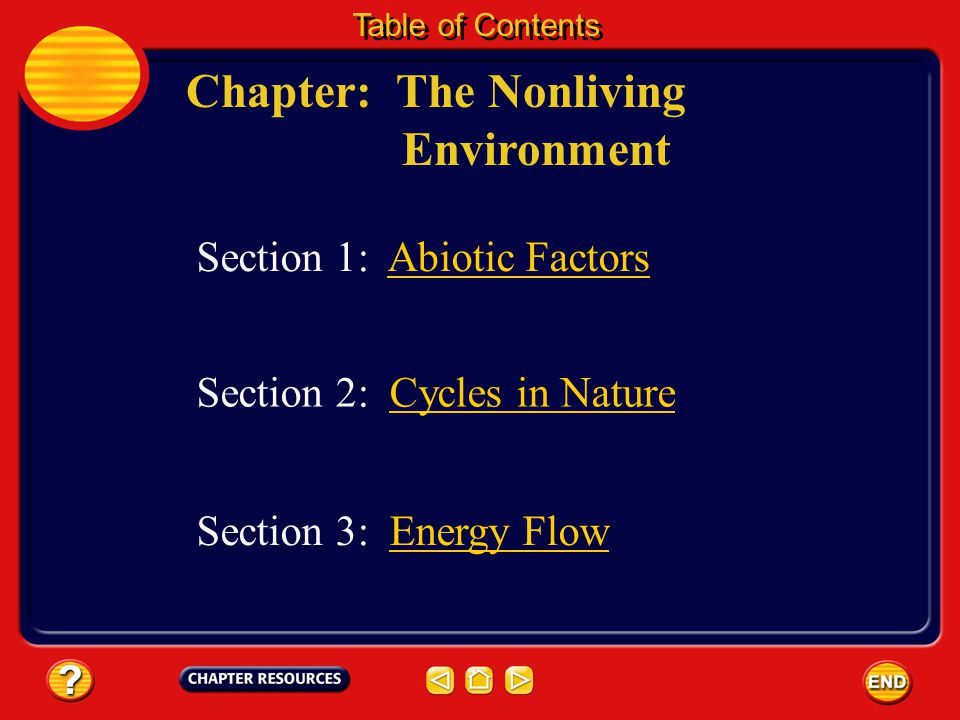 Chapter: The Nonliving Environment