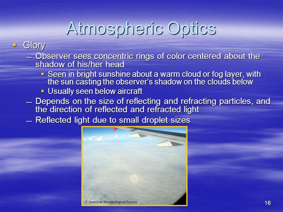 Atmospheric Optics Glory
