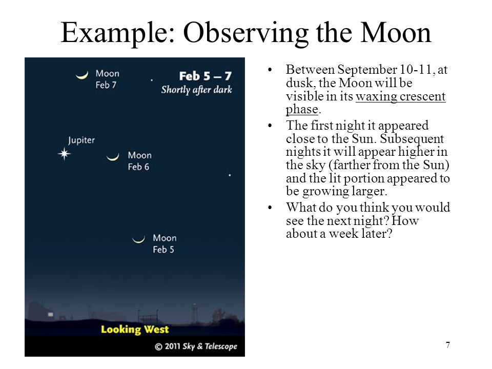 Example: Observing the Moon