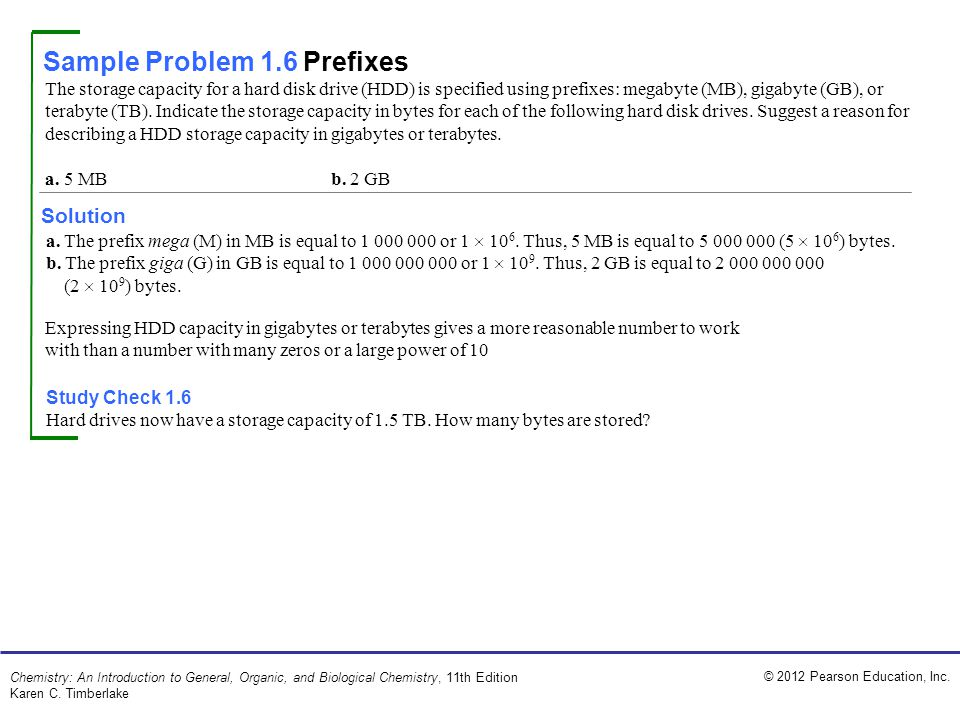 Sample Problem 1.6 Prefixes