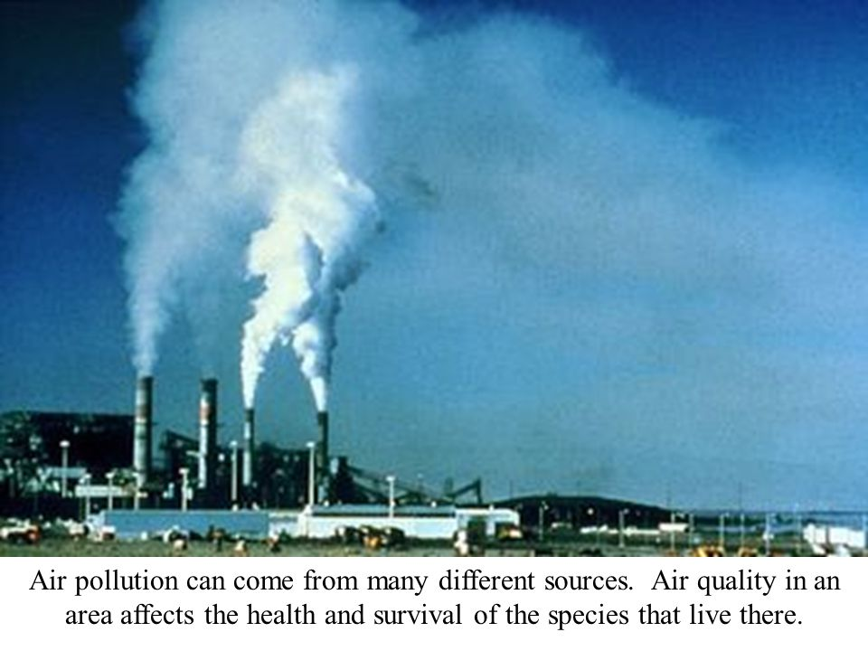 Air pollution can come from many different sources