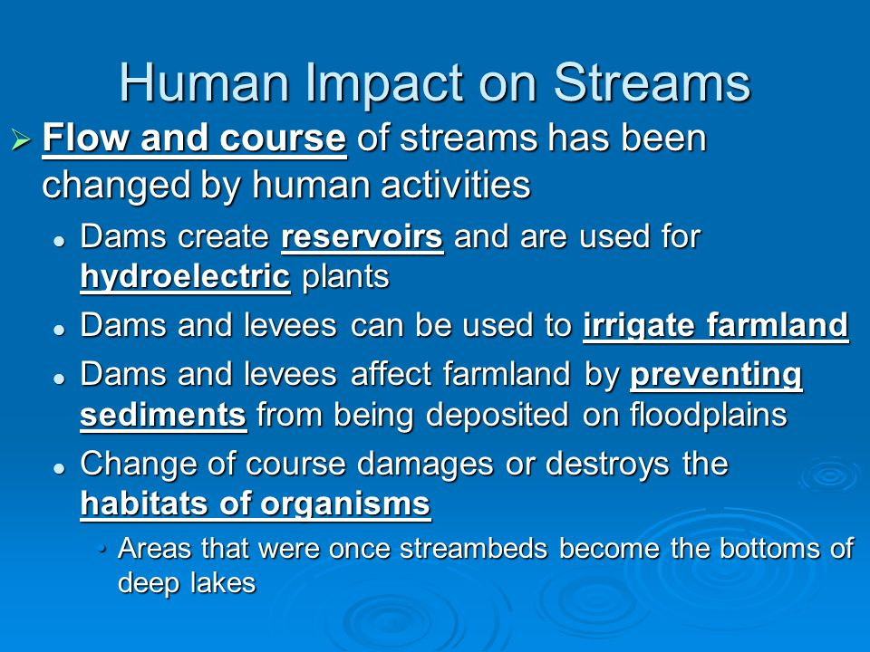 Human Impact on Streams