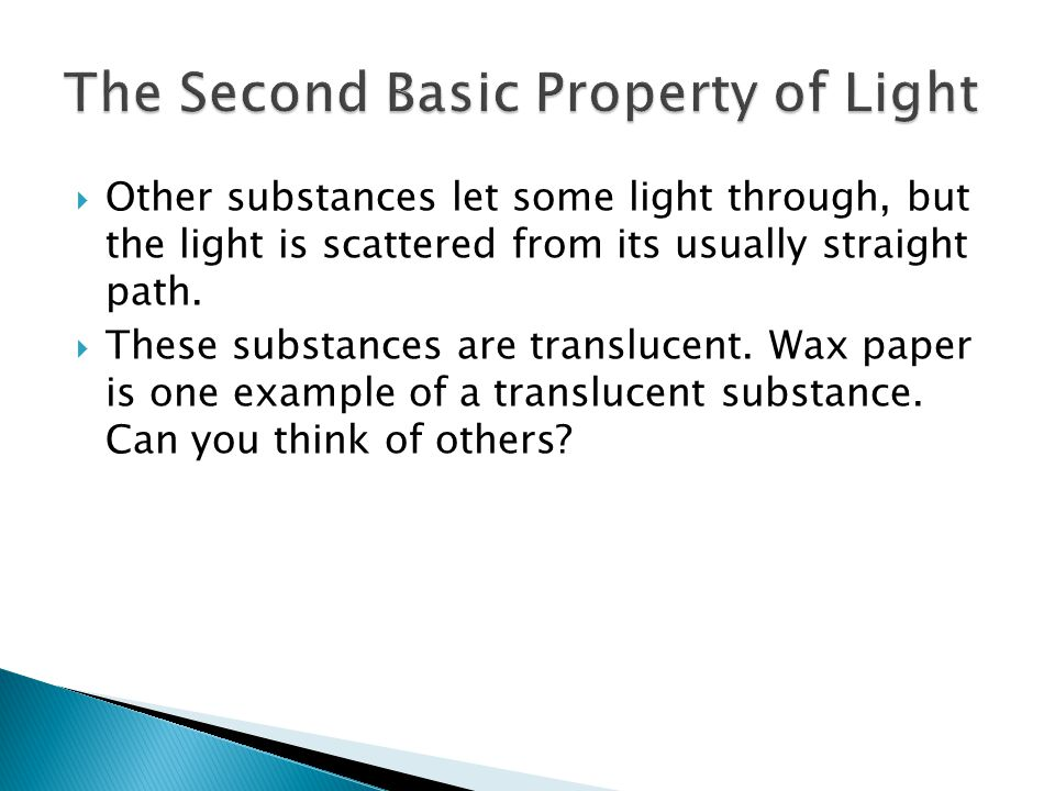 The Second Basic Property of Light