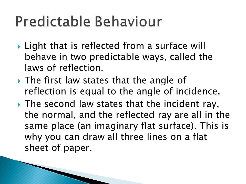 Predictable Behaviour
