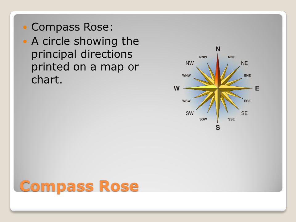 Compass Rose Compass Rose: