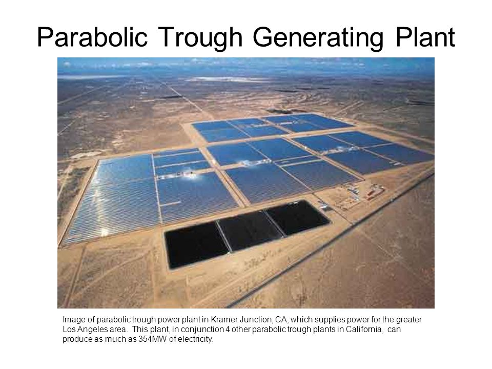 Parabolic Trough Generating Plant