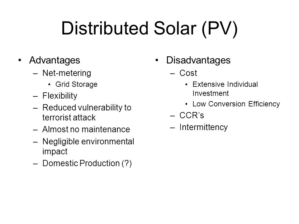 Distributed Solar (PV)