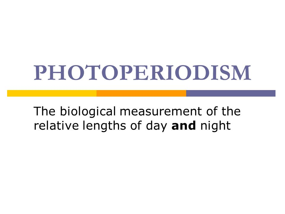 The biological measurement of the relative lengths of day and night