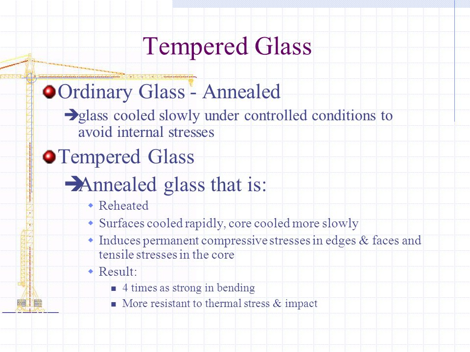 Tempered Glass Ordinary Glass - Annealed Tempered Glass