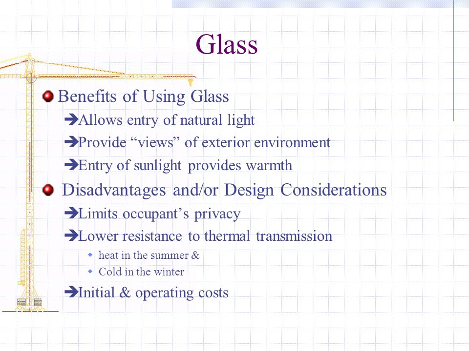 Glass Benefits of Using Glass
