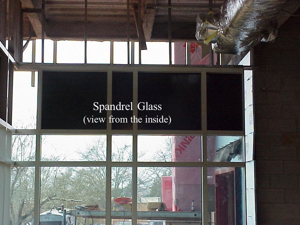 Spandrel Glass (view from the inside)