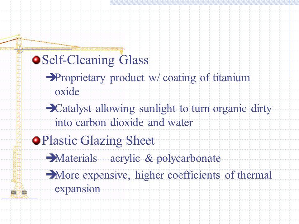 Self-Cleaning Glass Plastic Glazing Sheet