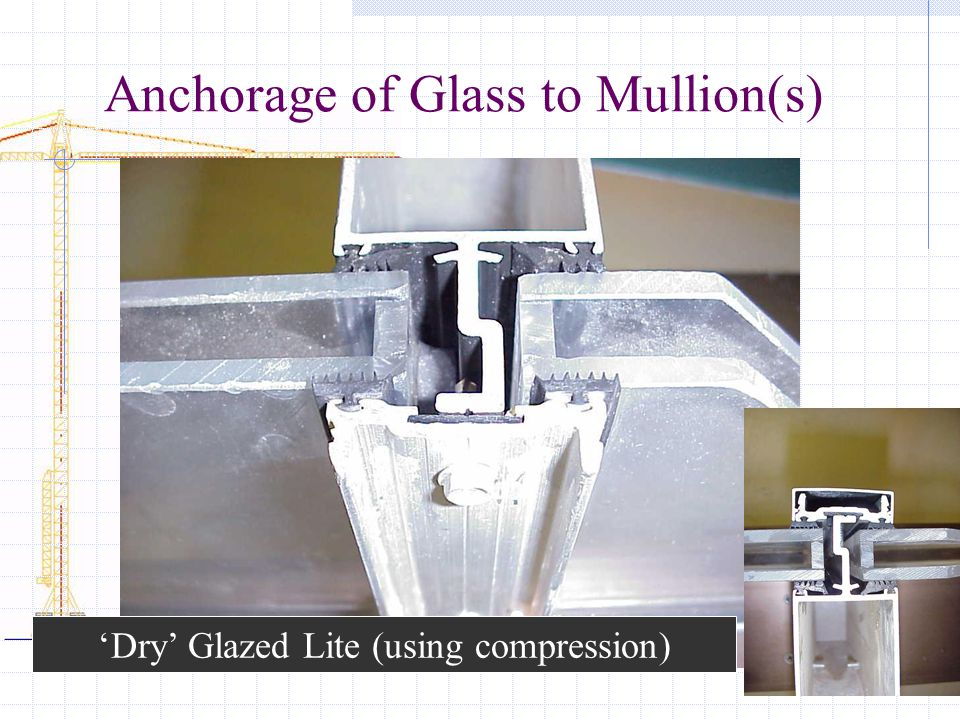 Anchorage of Glass to Mullion(s)