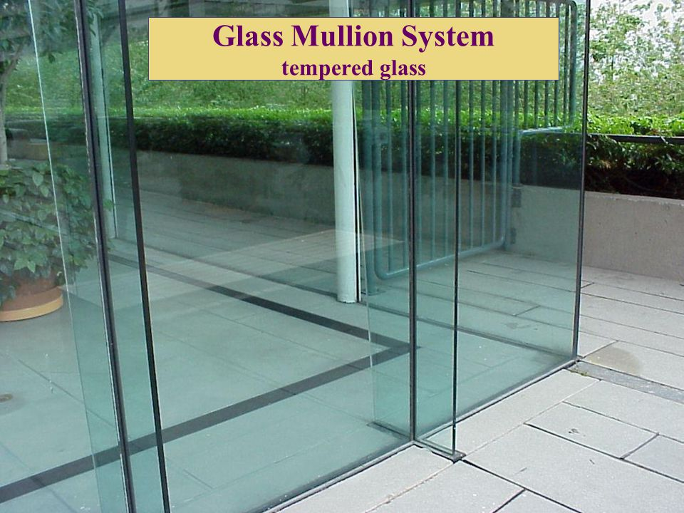 Glass Mullion System tempered glass