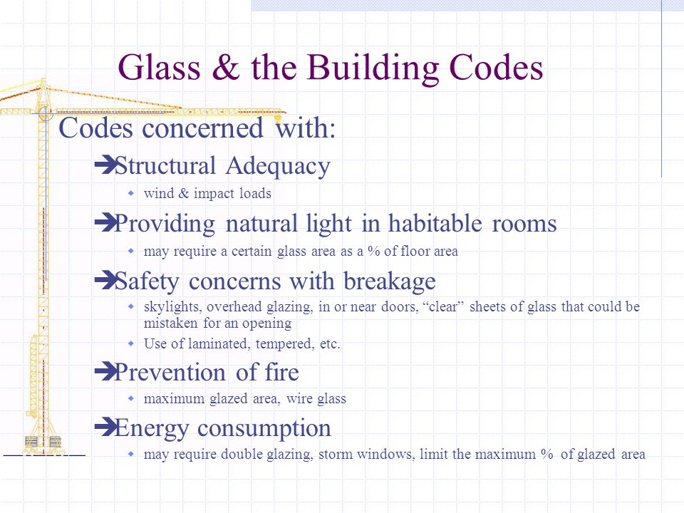 Glass & the Building Codes