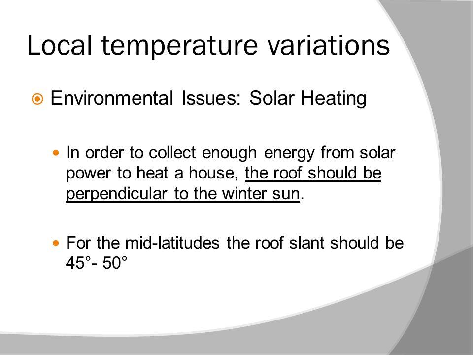 Local temperature variations
