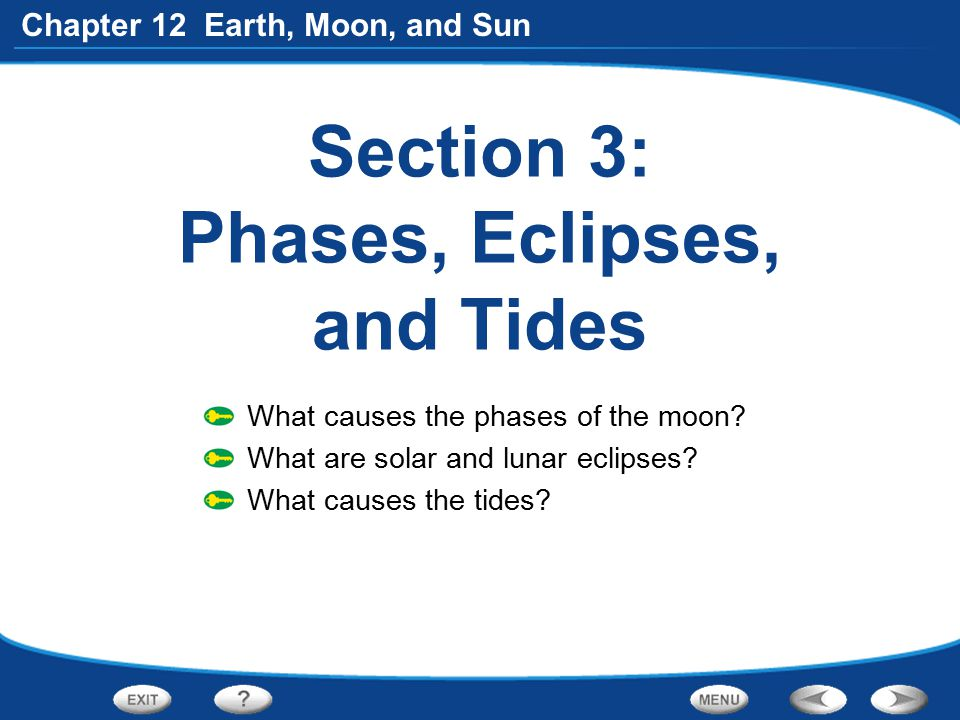 Section 3: Phases, Eclipses, and Tides