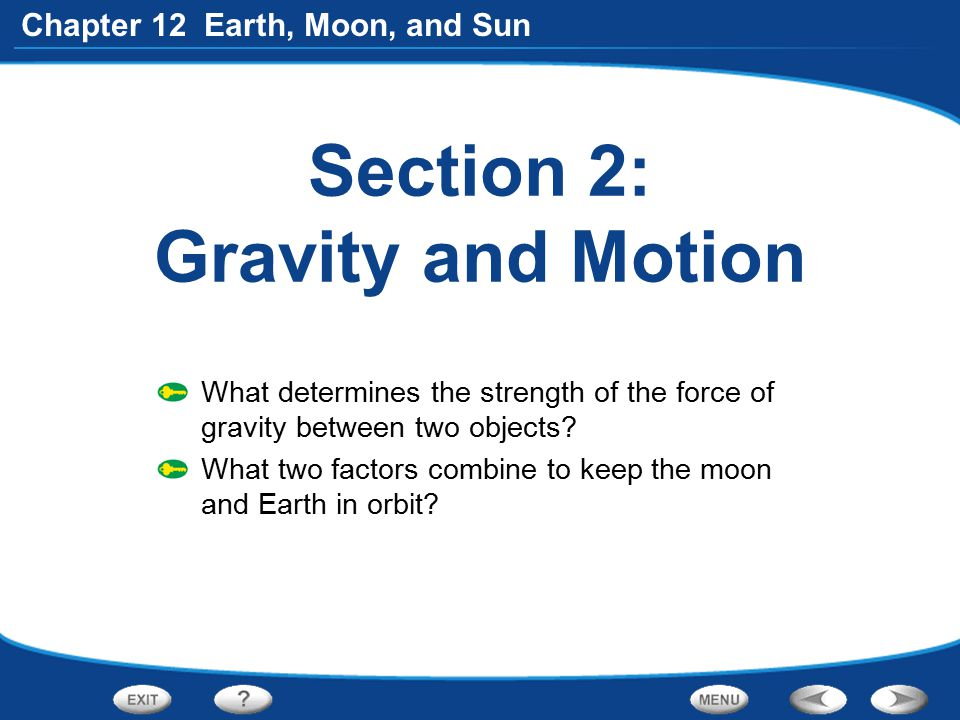 Section 2: Gravity and Motion